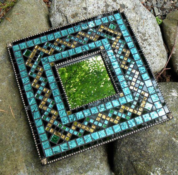 Custom Mosaic Mirror by MosaicObsession on Etsy, $90.00