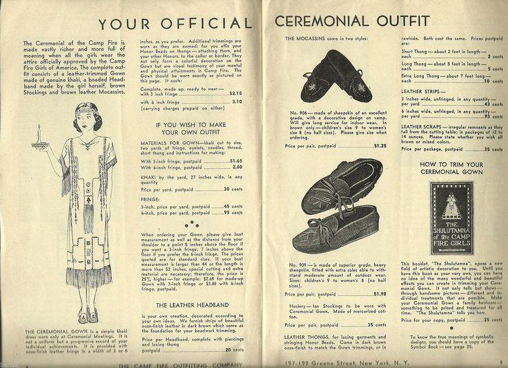 Vintage Campfire Girls C 1940's Camp Fire Girls Equipment Book not Scout | eBay