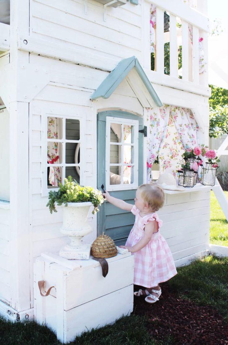 Tündéri házikót varázsolt a régi játszóházból az anyuka és a nagypapa