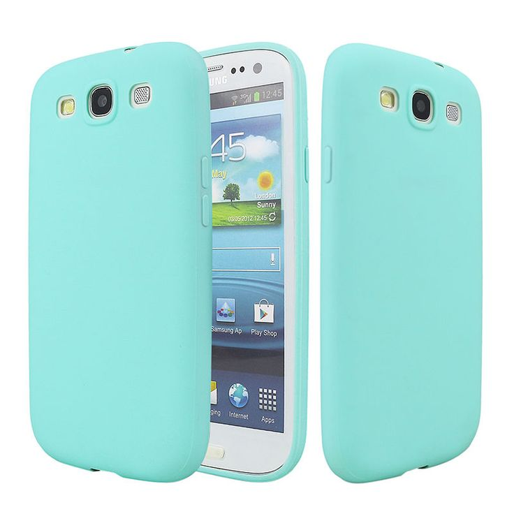 For Samsung galaxy S3 Case Solid Candy Rubber TPU cover case For Samsung galaxy S3 I9300 Back Cover Case