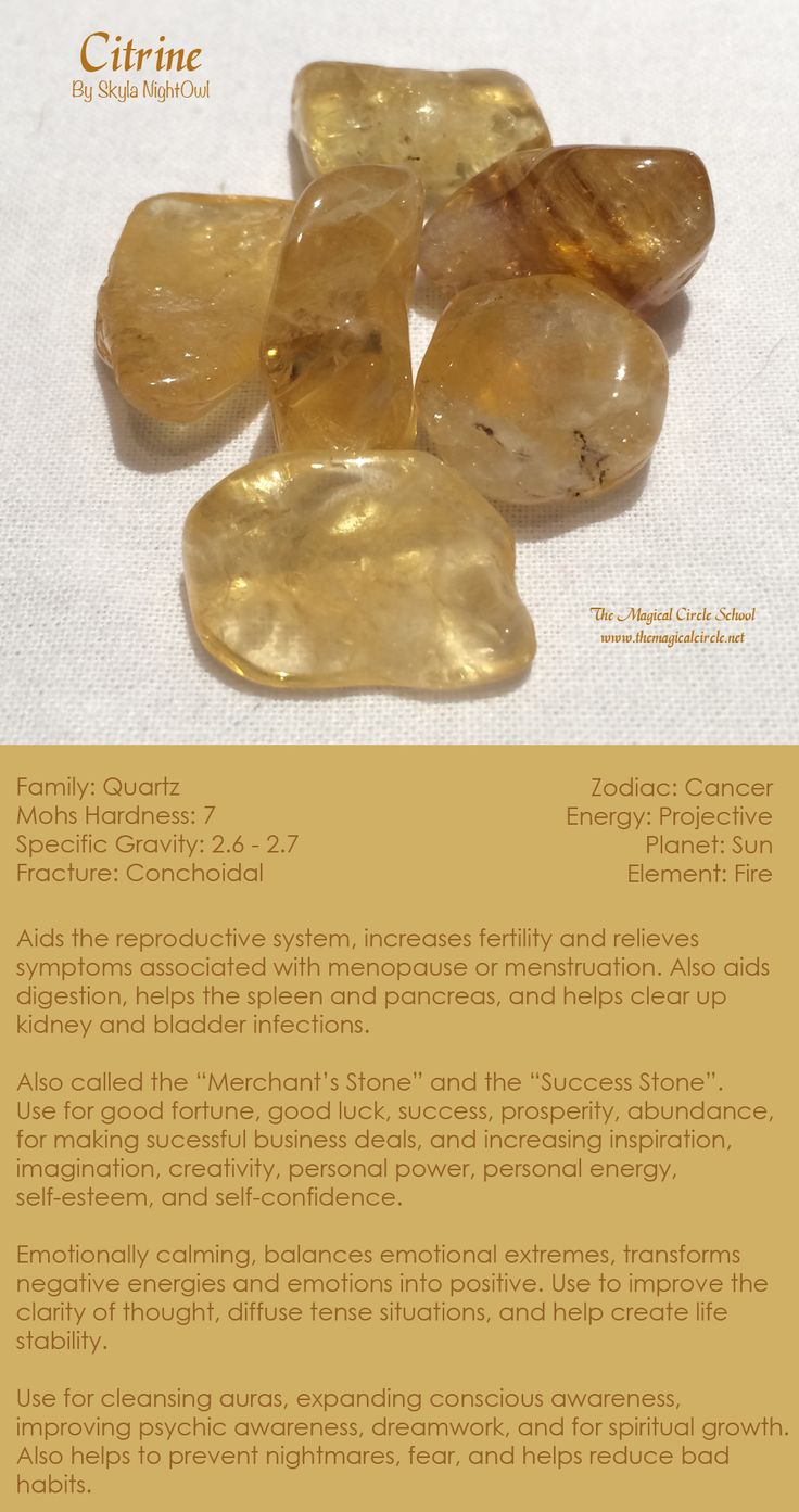 Citrine - by Skyla NightOwl - The Magical Circle School www.themagicalcircle.net