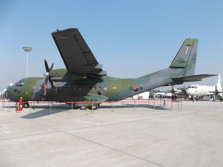 Republic of Korea Air Force Casa CN-235-220M, medium transport, also convertable to marine patrol aircraft.