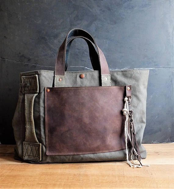Recycled military bag
