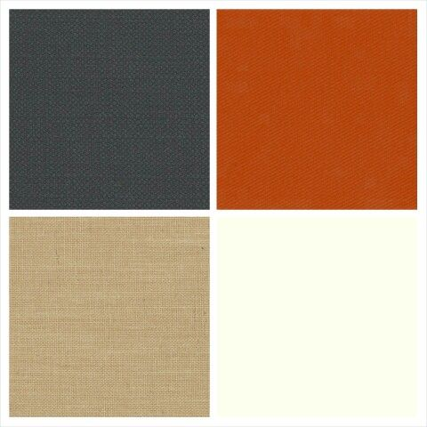 Charmin and Ken Ken's colors; Charcoal, burnt orange, ivory, and BURLAP!!!!