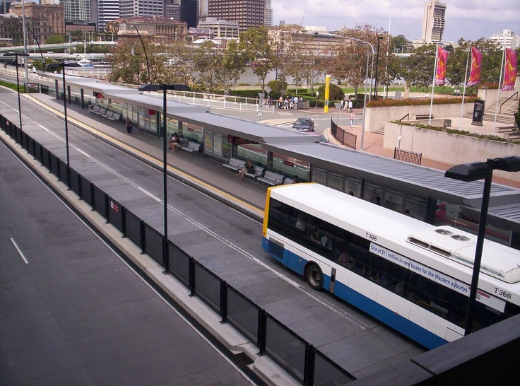 Cultural Centre Bus Station, Brisbane, Queensland