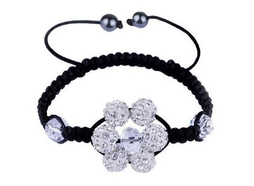 : Style Adjustable, Silver Color, Color Crystals, Shamballa Style, Adjustable Bracelet