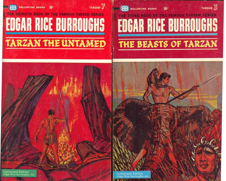 The Tarzan series of books were done for Ballantine in the mid-sixties. They don't strike me as Powers-style, although they are attractive in their own right. I wonder how well they sold. I think Edgar Rice Burroughs fans wanted covers more like the Ace printings of public domain books by ERB, with covers by Frank Frazetta and Roy G. Krenkel.