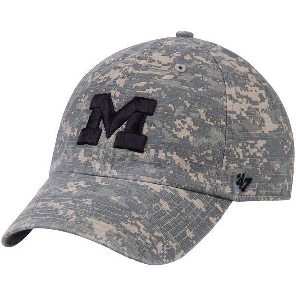 Michigan Wolverines '47 Operation Hat Trick Nilan Clean Up Adjustable Hat - Camo - $25.99