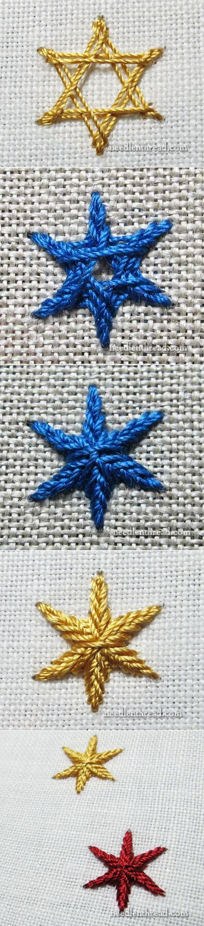 ч.3 Stitch Fun: Star Stitch – for Stars and Snowflakes – Needle'nThread.com
