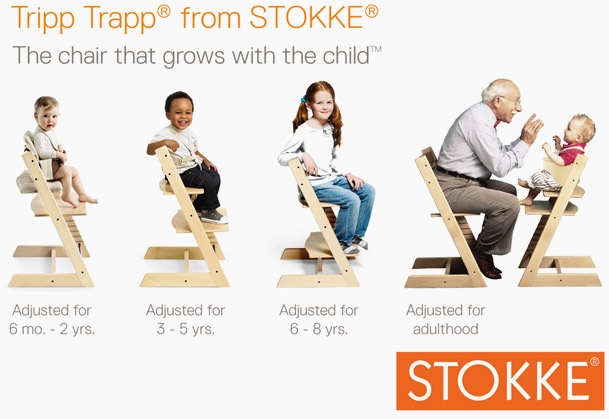 Stokke Tripp Trapp....a classic!  The chair that grows with your child!