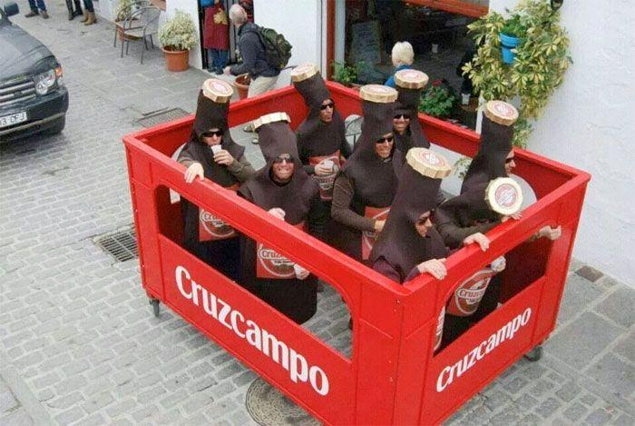 Disfraz de caja de cervezas