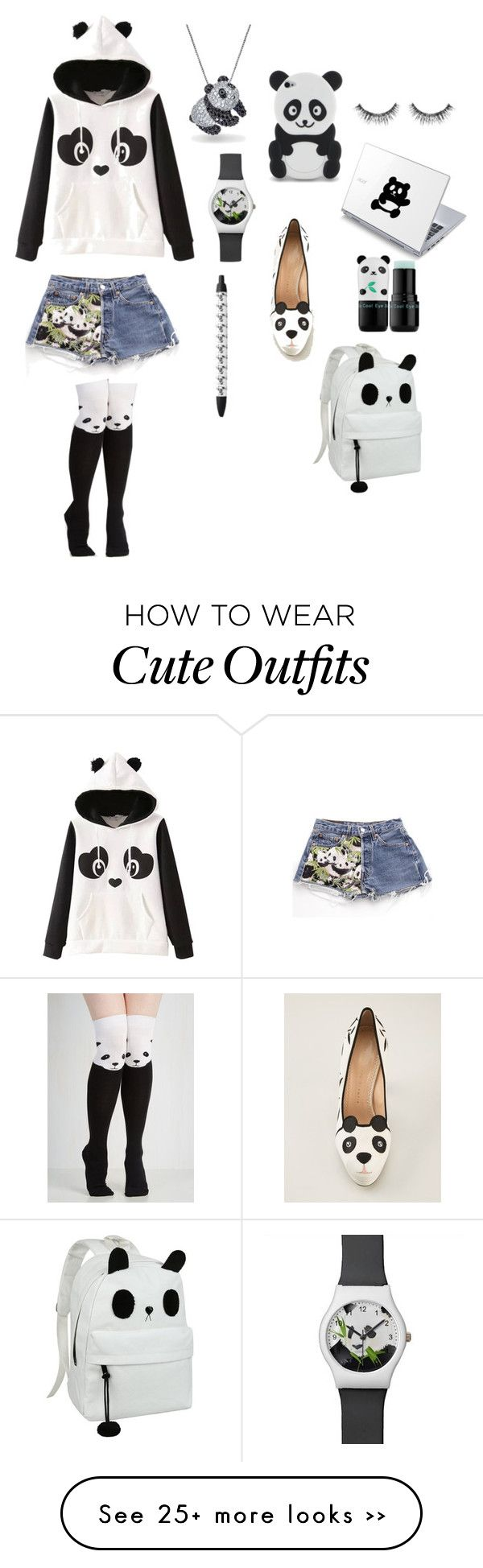 """""""Back to School Panda Outfit"""" by aleenghanem on Polyvore featuring Bling Jewelry, Charlotte Olympia, Tony Moly and Sephora Collection"""