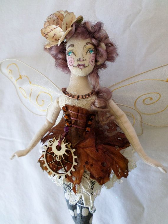 OOAK Fairy Art Doll  Octavia Elise Featherwood  by paulasdollhouse