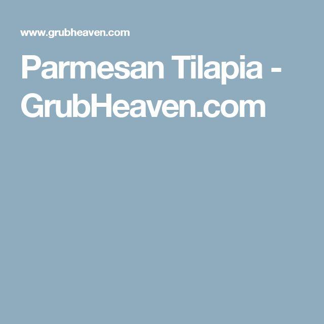 Parmesan Tilapia - GrubHeaven.com
