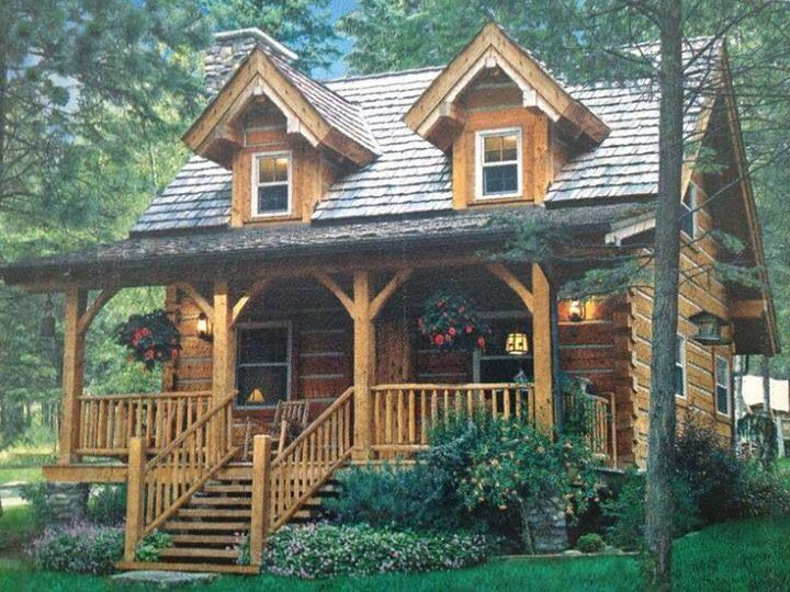 cabin with porch