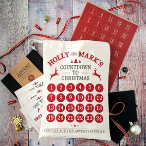 Personalised Couples Advent Calendar - personalised