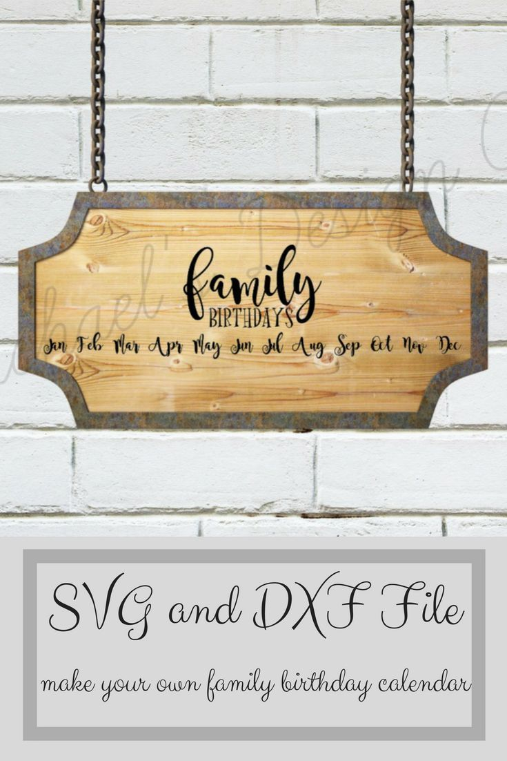 Family birthday calendar svg dxf instant download diy calendar family birthday calendar svg dxf instant download diy calendar cricut calendar solutioingenieria Images