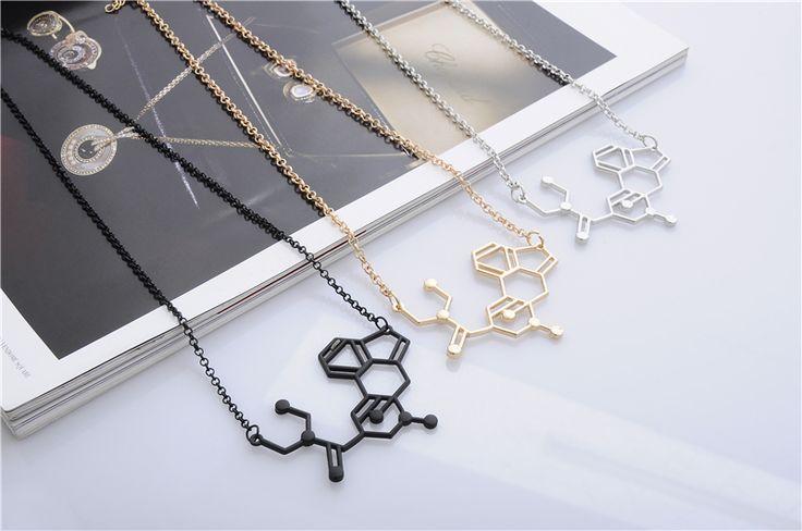 Темперамент кофеин молекула ожерелье химии ожерелье структура ожерелья шкентеля элегантный длинное ожерелье для женщин оптовая продажа купить на AliExpress