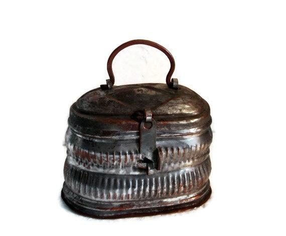Oriental antique box rustic COPPER tinplated by cabinetocurios