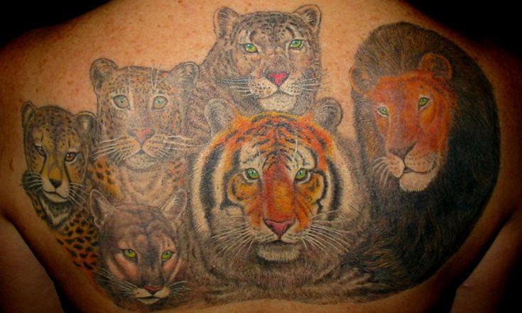 Tiger lion leopard puma amp florida panther mystic art for Panther tiger tattoo