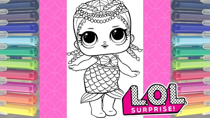 LOL SURPRISE MERBABY DOLL MALEN MIT MARKERN | LOL ÜBERRASCHEN FARBEN …   – LOL SURPRISE COLORING Printables