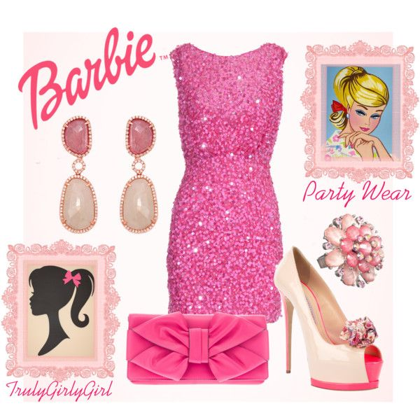 """Barbie: Party Wear"" by trulygirlygirl on Polyvore"