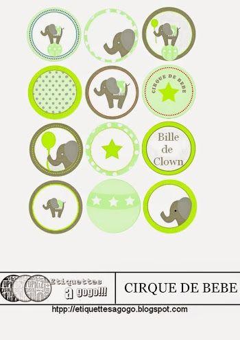 Babys Circus: Free Printable Labels.