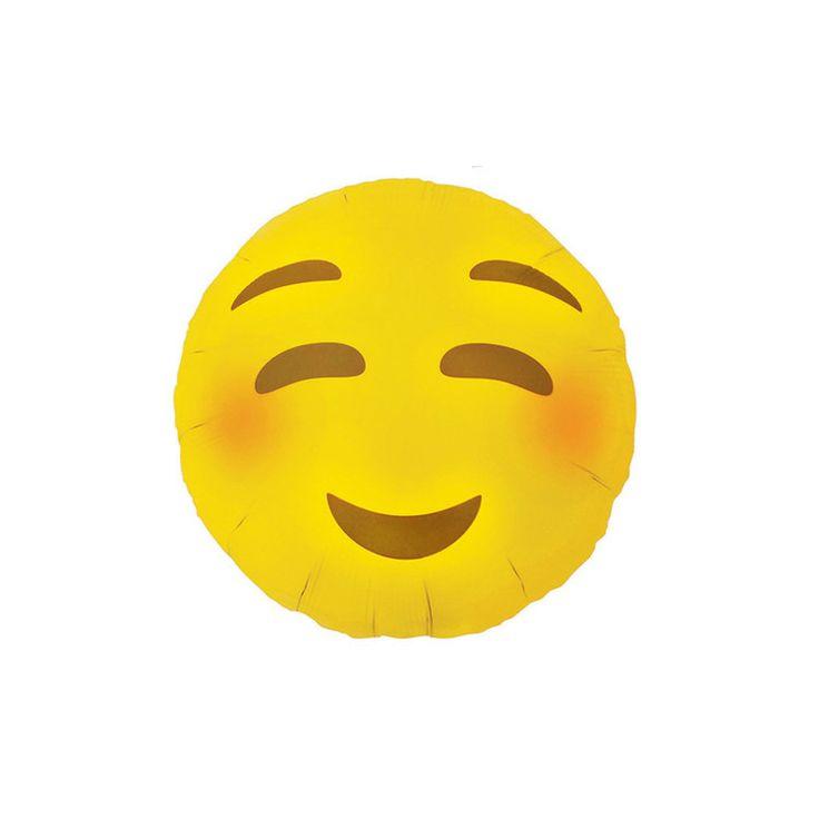 Picture 1 of Mylar Blushing Emoji Balloon