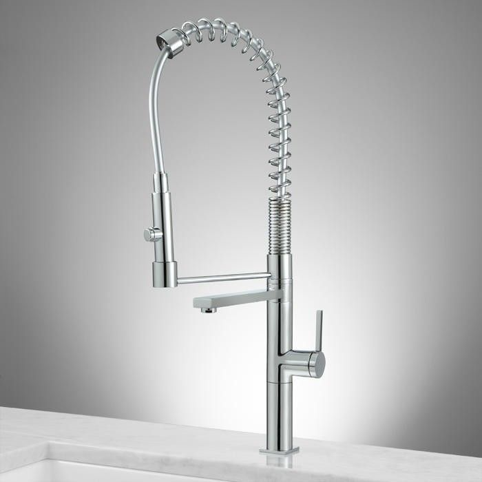 High Rise Kitchen Faucet With Spring Spout