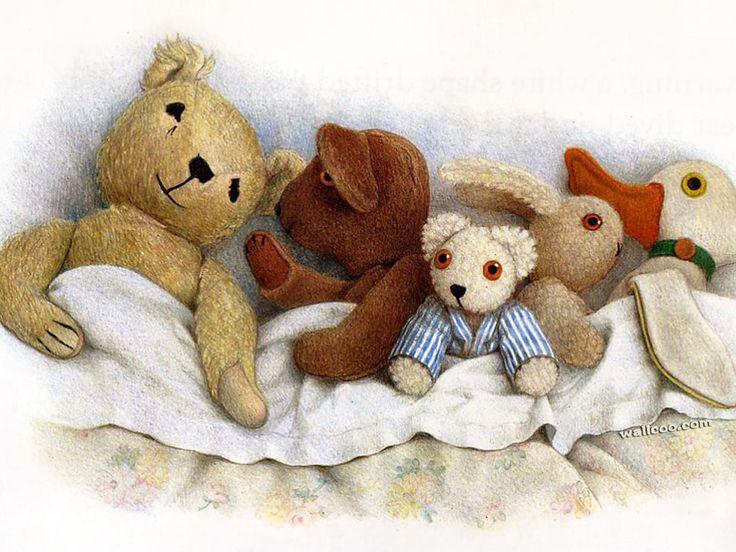 Jane Hissey stuffed toy art
