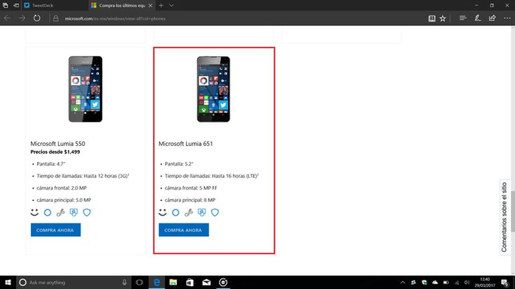 Lumia 651 Windows 10 Mobile handset appears on Microsoft Mexico website