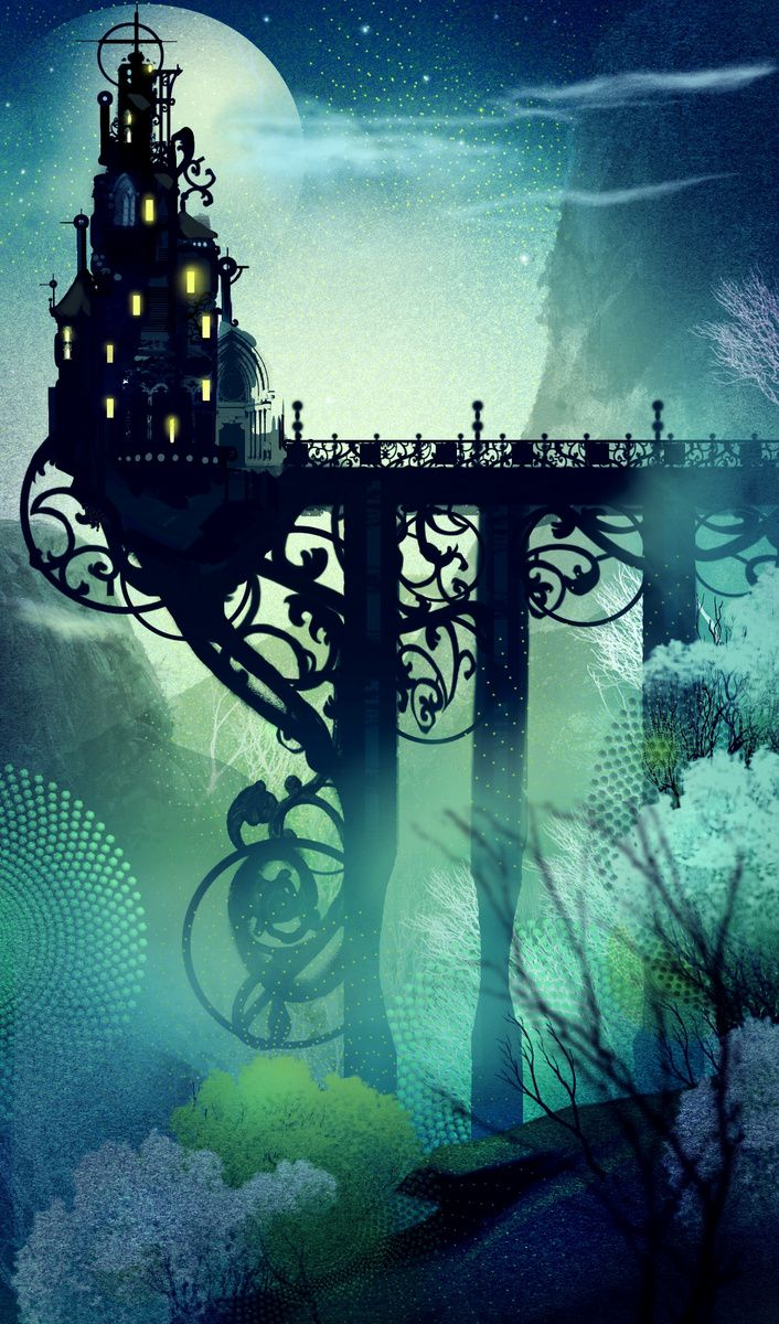 The bridge extended only to mid-chasm; there she lived in a castle suspended above her fears. . . . . . . --EDK