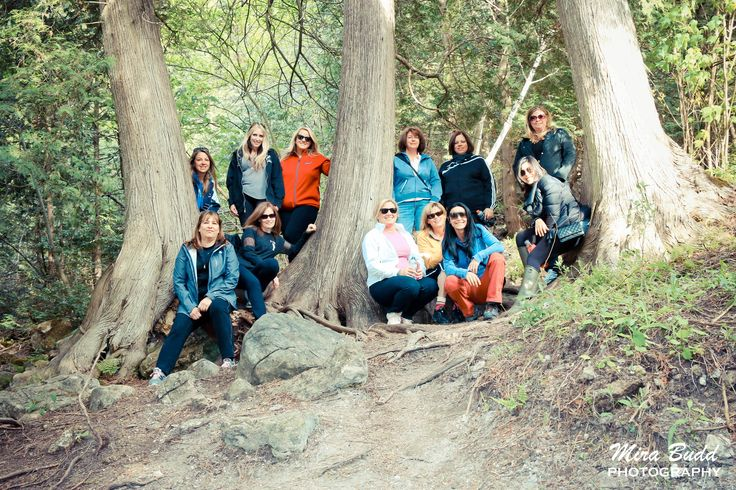 Women Hiking Group, Belfountain Conservation Area, Caledon Hiking Trails,