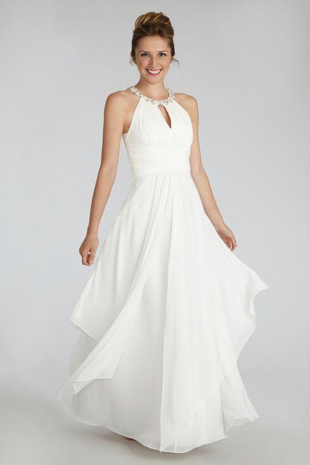Donna Morgan Wedding Dress $234 | Bridal Musings Wedding Blog
