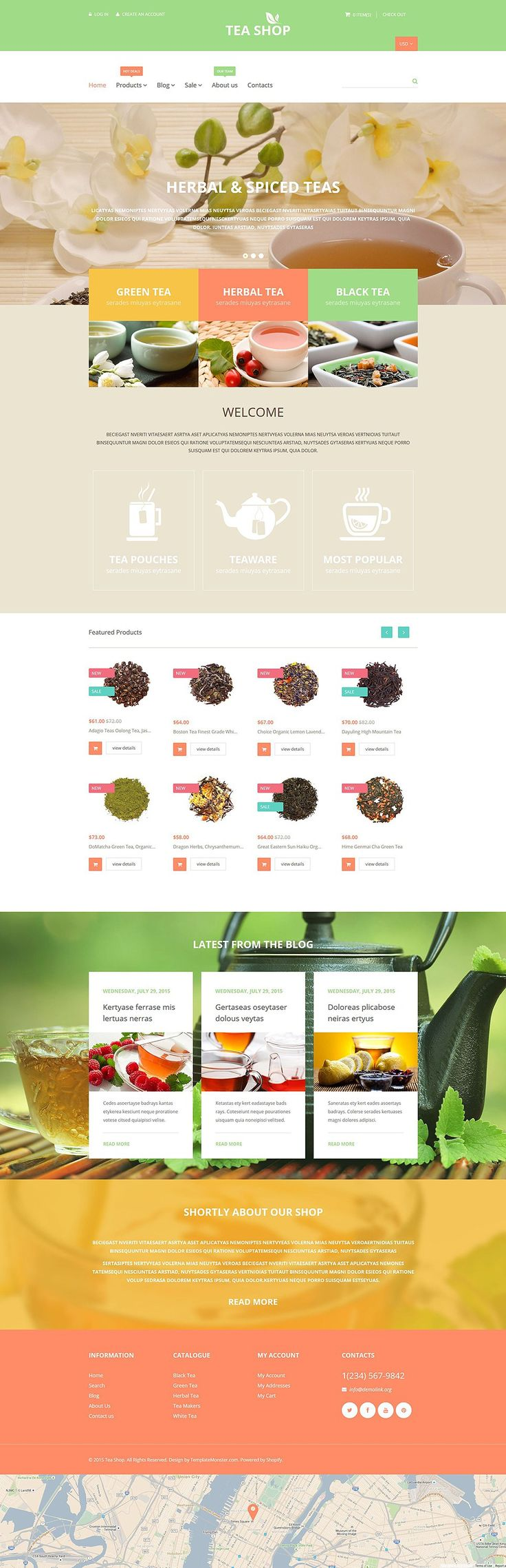 19+ Awesome Themes for Selling Beverages/Drinks (Coffee, Tea, Alcohol Store Shopify Themes) - Tea Shop (Shopify theme) Item Picture