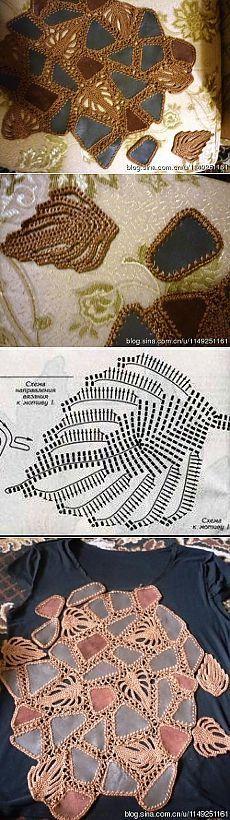 Cómo conectar la piel (o tejido) y de punto. Modelos hechos de cuero, atado con ganchillo. Mini clase magistral de fotografía.