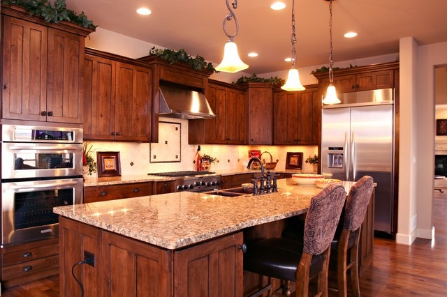 Hickory Cabinets Design, Pictures, Remodel, Decor and Ideas - page 13