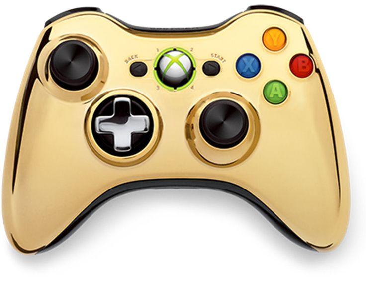 XBox 360 Gold Chrome Controller