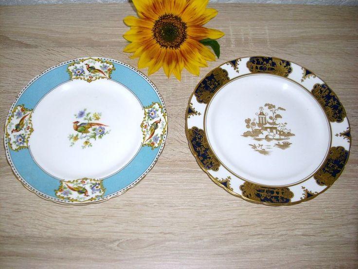 2 St Sammelteller Fasan u Asia Motiv Tuscan China England Porzellan