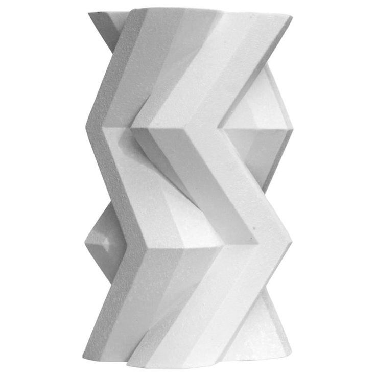 Lara Bohinc, Fortress Tower Vase, White Ceramic 1