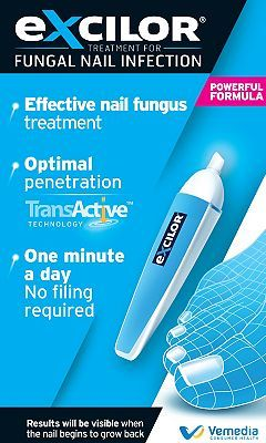 Excilor Fungal Nail Infection Pen 10125639 88 Advantage card points. Excilor Fungal Nail Infection Pen- Effective nail fungus treatment. Always read the product information before use. FREE Delivery on orders over 45 GBP. http://www.MightGet.com/february-2017-1/excilor-fungal-nail-infection-pen-10125639.asp