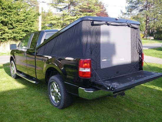 back of truck tent