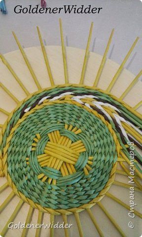 Педагогический опыт 8 марта Плетение Плетёные панно где для их исполнения не нужно ни чего как только крашенные газетные трубочки Бумага газетная Трубочки бумажные фото 2