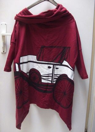 Kup mój przedmiot na #vintedpl http://www.vinted.pl/damska-odziez/bluzy/20974088-bordowa-bluza-z-printem-freeshion-vintage-samochod