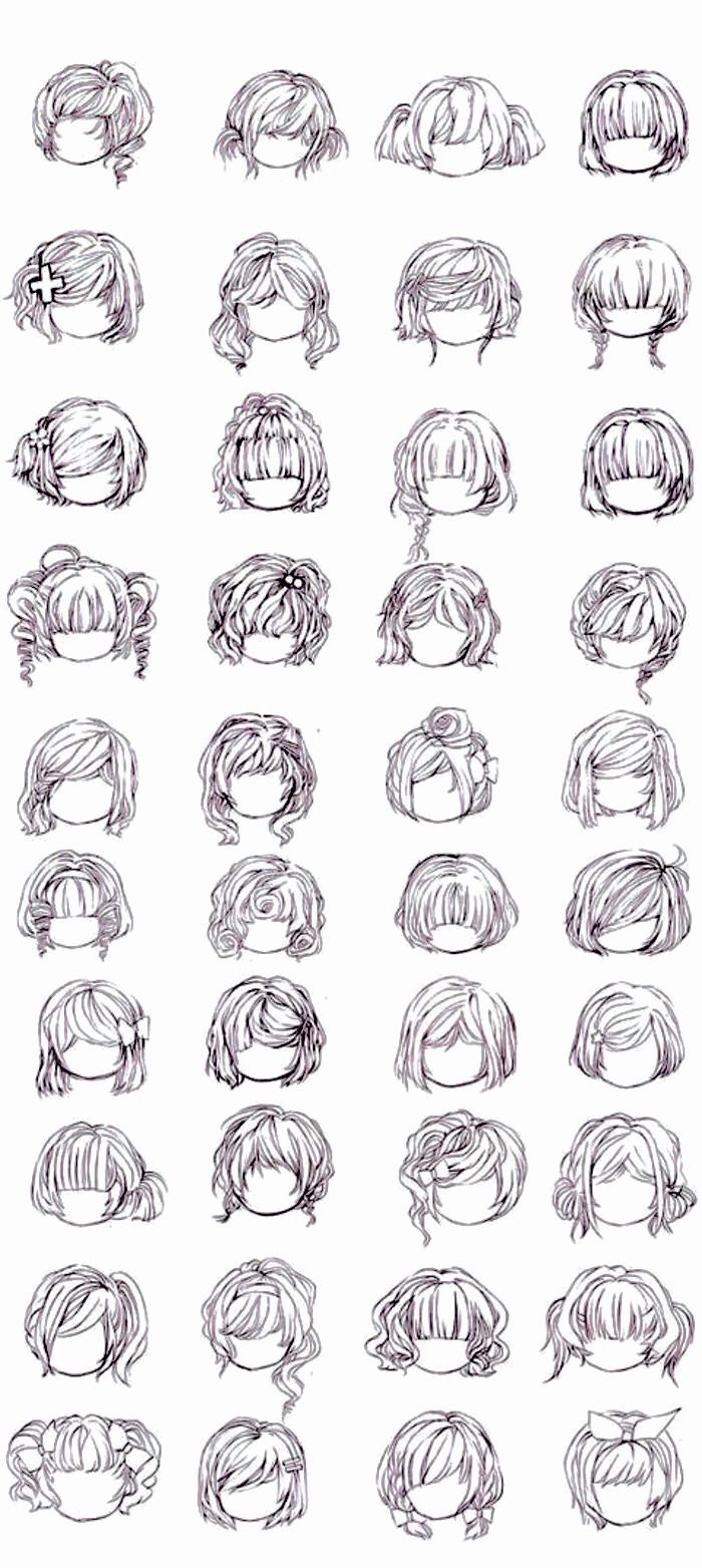 How To Draw Curly Hair Amazon Com Short Hair Fluffy Wave Head Fabal Curly Short Anime Hairstyles Downlo In 2020 Curly Hair Drawing Curly Hair Styles How To Draw Hair