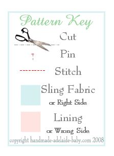 baby sling pattern This is the best instructions I have found for a Baby Sling. No rings, not adjustable, great instructions and pictures.