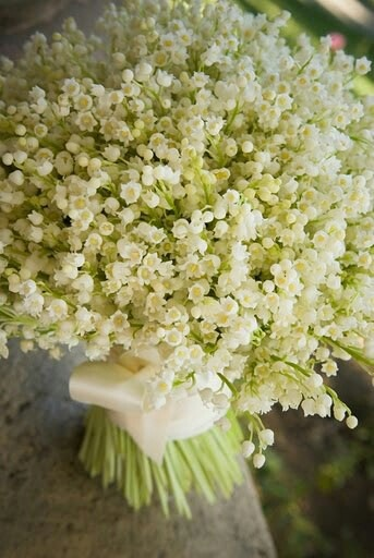 lily of the valley bouquet - imagine the scent!