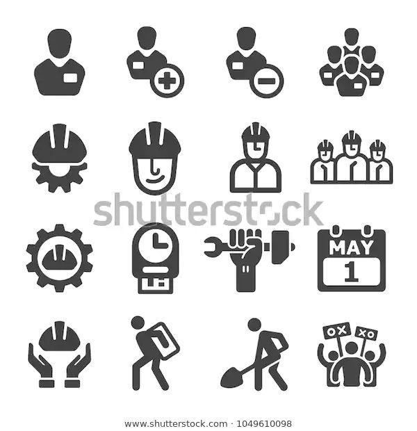 Labour Icon Set Stock Vector Royalty Free 1049610098 Icon Set Icon Stock Vector