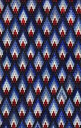 Blue Flames Bargello