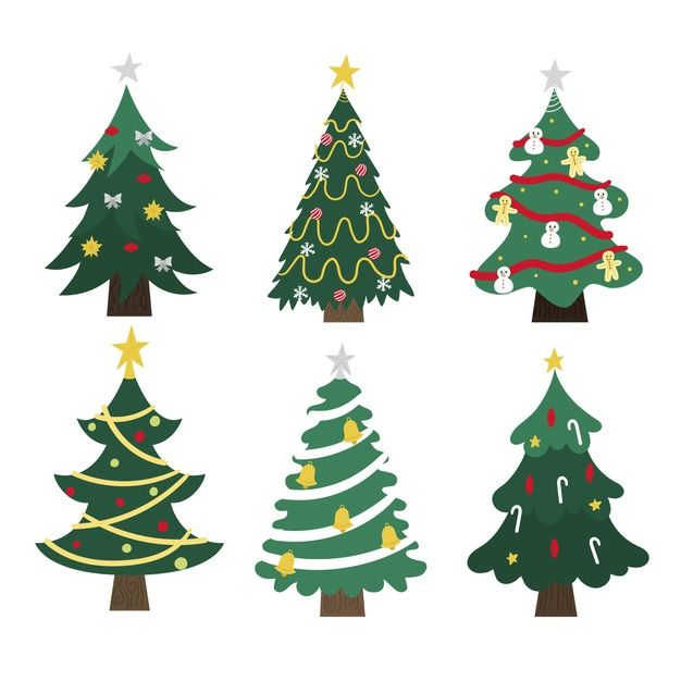 Download Hand Drawn Christmas Tree Collection For Free